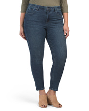 Plus High Rise Button Front Jeans