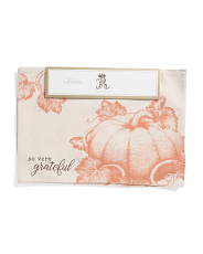 4pk Heirloom Pumpkin Sketch Placemats