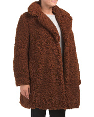 Plus Teddy Bear Faux Fur Coat