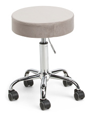 Miranda Velvet Office Stool