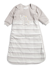 Baby Elephant Sleepsack With Detachable Sleeves