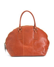 Made In Italy Leather Travel Tote