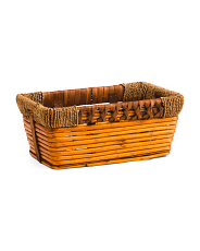 Small Rectangle Willow Basket With Wrapping Handles