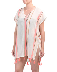 Striped Tassel Cover-up