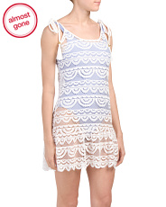Lacy Knit Swim Cover-up