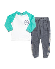 Little Boys Long Sleeve Hoodie And Jogger Set