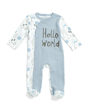 Newborn Boys Hello Coveralls