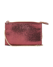 Leather Hannah Metallic Crossbody