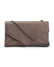 Saffiano Leather Hannah Chain Crossbody