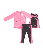 Toddler Girls 3pc Jacket & Leggings Active Set