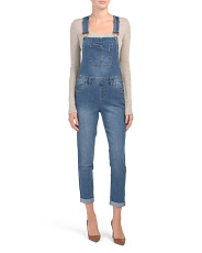 Denim Overalls With Front Pocket