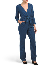 Made In Usa Moxy Denim Wrap Pantsuit