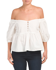 Veronica Sweetheart Puff Sleeve Top
