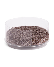 Acrylic And Leopard Pet Bed