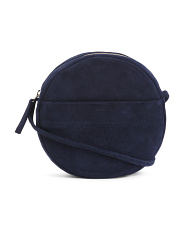 Made In Usa Suede Circle Crossbody
