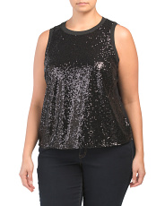 Plus Cole Sequin Tank