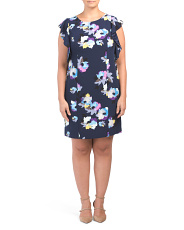 Plus Ruffle Sleeve Floral Dress