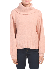 Juniors Cozy Balloon Sleeve Sweater