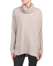 Juniors Dolman Sleeve Sweater With Side Slits