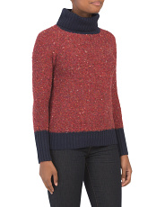 Boucle Textured Turtleneck Sweater
