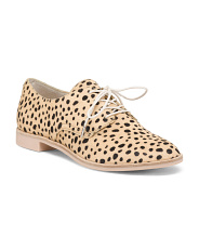 Leopard Haircalf Loafers