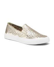 Perforated Slip On Sneakers