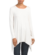Scoop Neck Sharkbite Hem Top