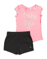 Big Girls Dance More Athleisure Short Set