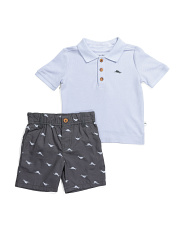 Toddler Boys 2pc Fish Short Set