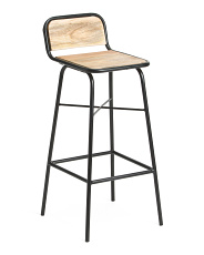 Mango Wood And Iron Barstool