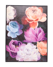 30x40 November Blooms Canvas Framed Wall Art