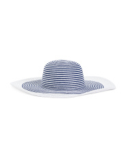 Made In Italy Straw Floppy Hat