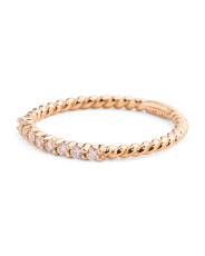 14k Gold And Diamond Twisted Band Stacking Ring