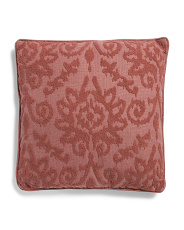 22x22 Textured Faux Linen Pillow