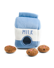 Milk And Cookies Interactive Dog Toy