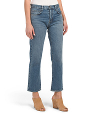 Made In Usa High Rise Straight Jeans