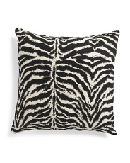 22x22 Tiger Chenille Animal Pillow