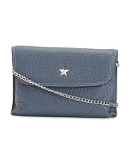 Made In Italy Star Leather Crossbody