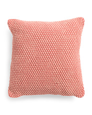 20x20 Textured Terracotta Pillow