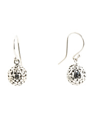 Made In Bali Sterling Silver Filigree Ball Drop Earrings