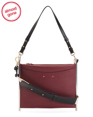Made In Italy Roy Leather Clutch Crossbody