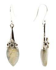Made In India Sterling Silver Labradorite Earrings