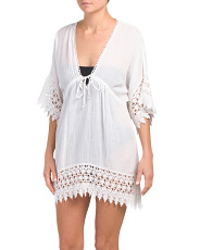 Woven Cotton Tunic Cover-up