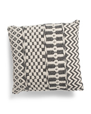 20x20 Textured Woven Pillow
