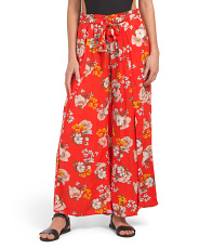 Floral Wide Leg Cover-up Pants