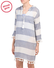 Striped Tassel Tunic Cover-up