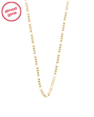 Made In Italy 14k Gold Figaro Chain Necklace