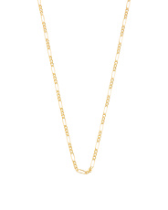 Made In Italy 14k Gold Figaro 3+1 Chain Necklace