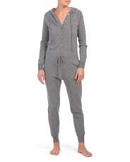 Hooded Cashmere Jumpsuit