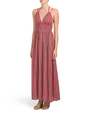 Juniors Smocked Waist Maxi Dress